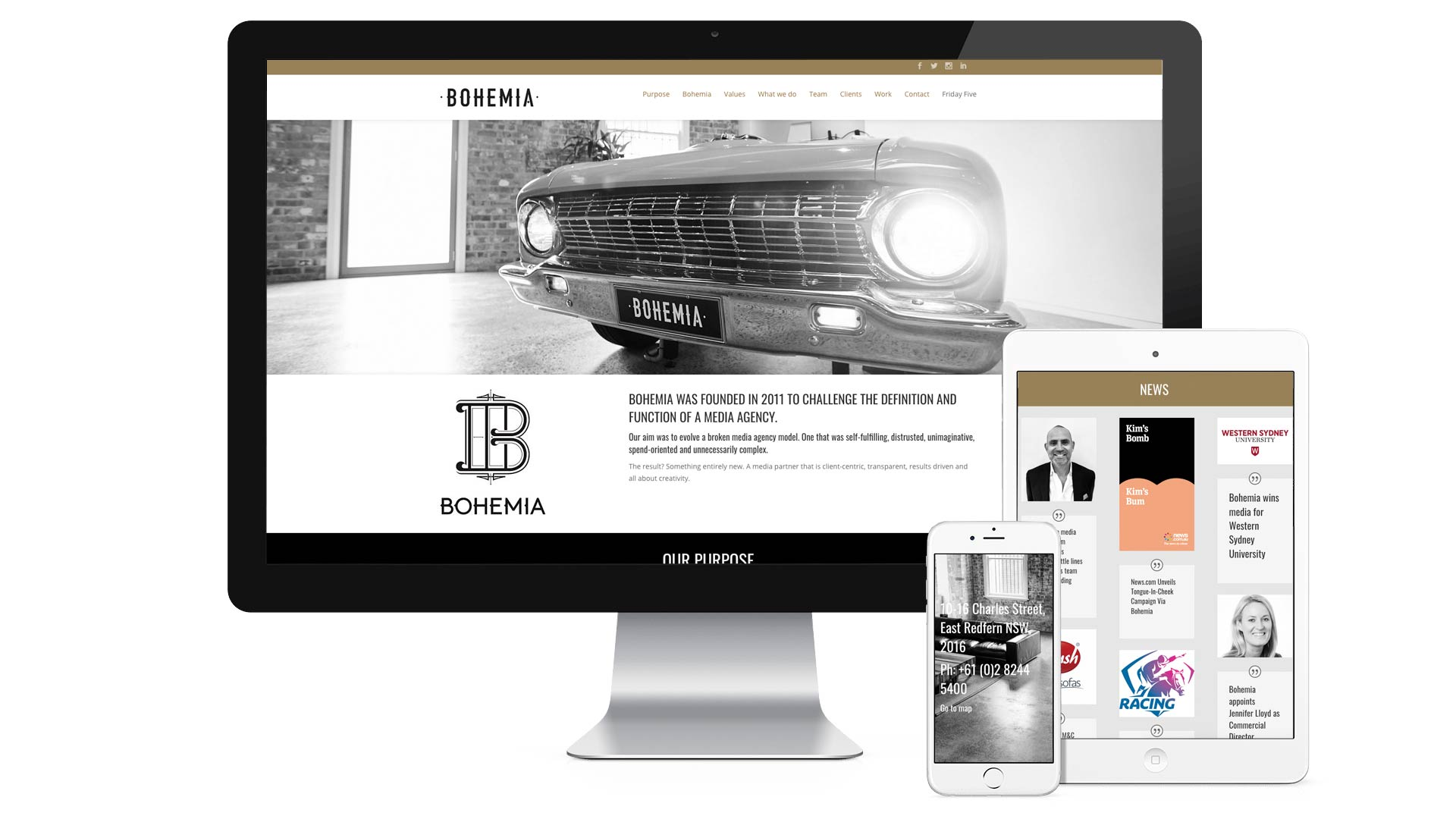 Bohemia devices web design