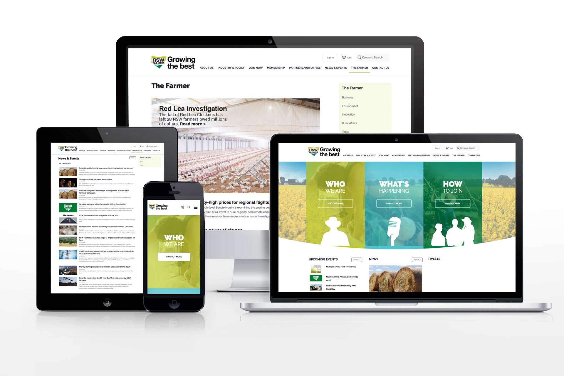 NSW Farmers website design