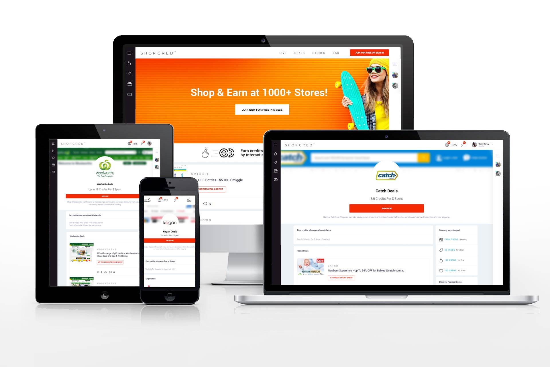 Shopcred Website Design